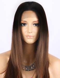 Brown ombre wig synthetisch
