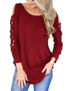 Crisscross sweater bordeaux