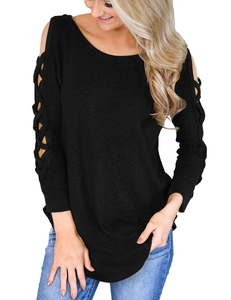 Crisscross sweater zwart