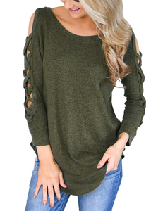 Crisscross sweater groen
