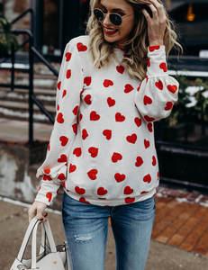 Hartjes trui rood wit