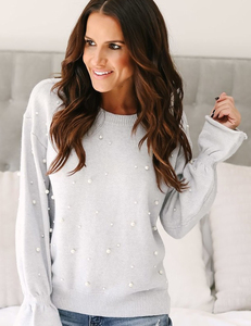 Pearl sweater grey