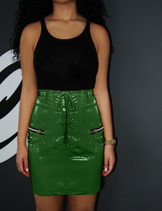 Groene lak rok