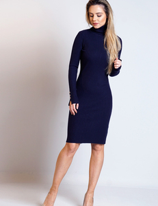 Knitted bodycon dress navy