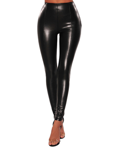 Leather look legging