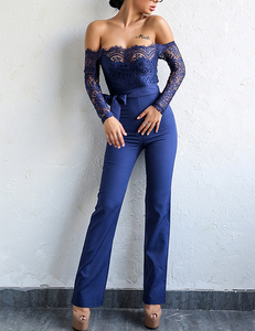 Blue lace jumpsuit
