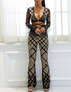 Furry 2piece set zwart