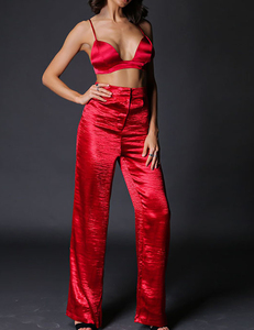 Crepe satin 2piece