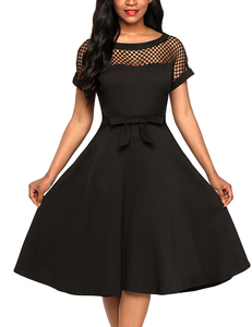Fishnet skater dress