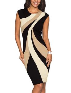Swirl bodycon dress