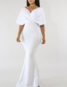 Mermaid off shoulder dress wit