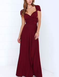 Wine multi-maxi dress