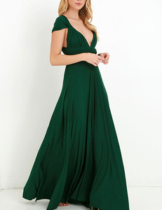 Green multi-maxi dress