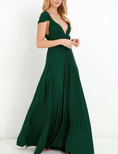 Green multi-maxi dress