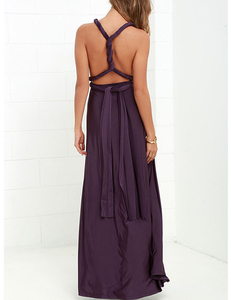 Purple multi-maxi dress