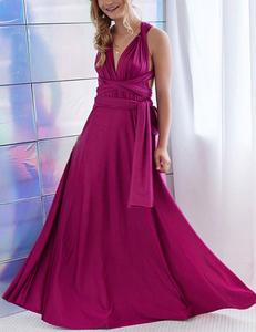 Fuchsia multi-maxi dress