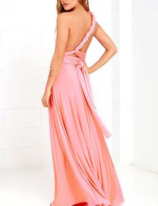 Pink multi-maxi dress