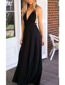 Black multi-maxi dress
