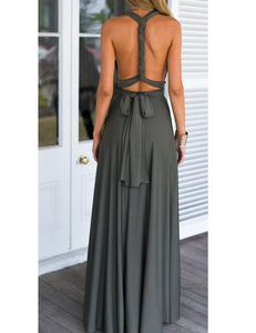 Grey multi-maxi dress
