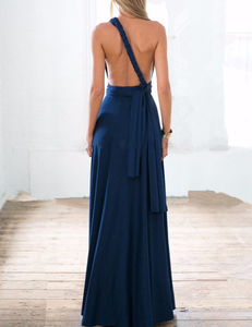 Blue multi-maxi dress