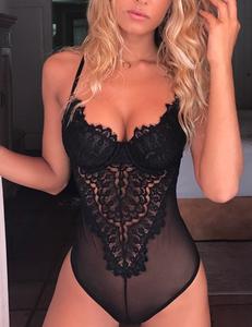 Lingerie bodysuit zwart