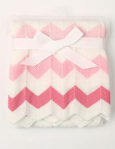 Zigzag baby deken roze