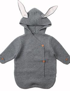 Gehaakte bunny slaapzak grijs