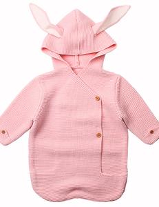 Gehaakte bunny slaapzak roze