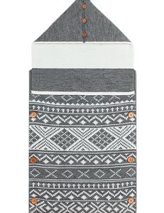 Baby deken aztek grijs