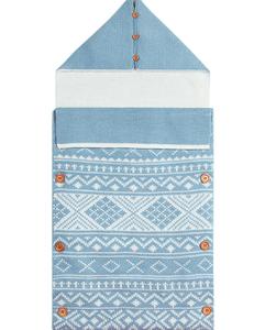 Baby deken aztek blauw