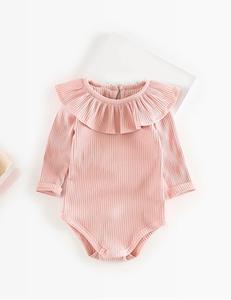Baby romper ruffle licht roze