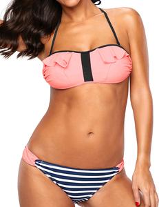 Ruffle bikini roze