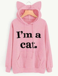 Imma cat sweater roze