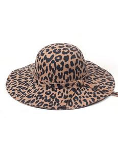 Luipaard hoed bruin