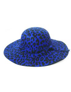 Luipaard hoed blauw