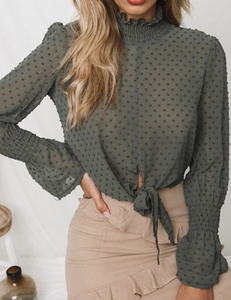 Crop top groen