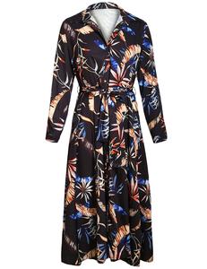 Boho leaf dress