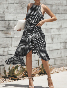 Polka dot dress zwart