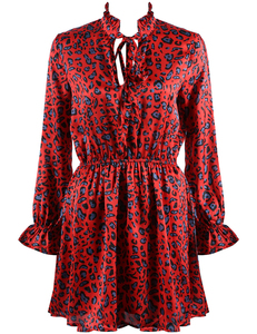 Rood luipaard jurkje