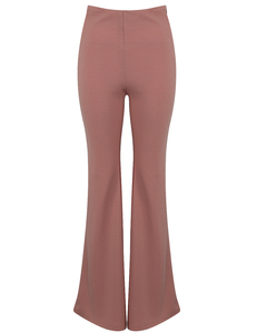 Flared high waist pants rose