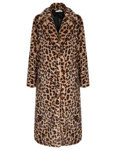 Full length leopard coat