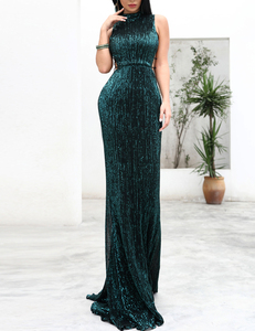 Groene gala jurk