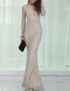 Silver nude gala jurk