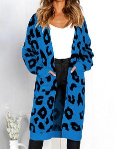 Luipaard vest blauw