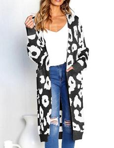 Luipaard vest zwart