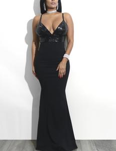 Paillette avond jurk