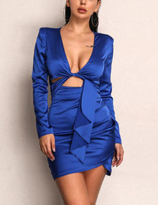 kylie inspired bday dress blauw
