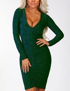 Shimmer green dress