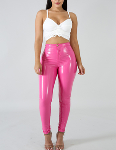 Faux leather pink
