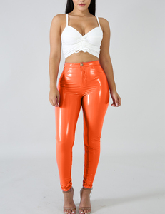 Faux leather orange